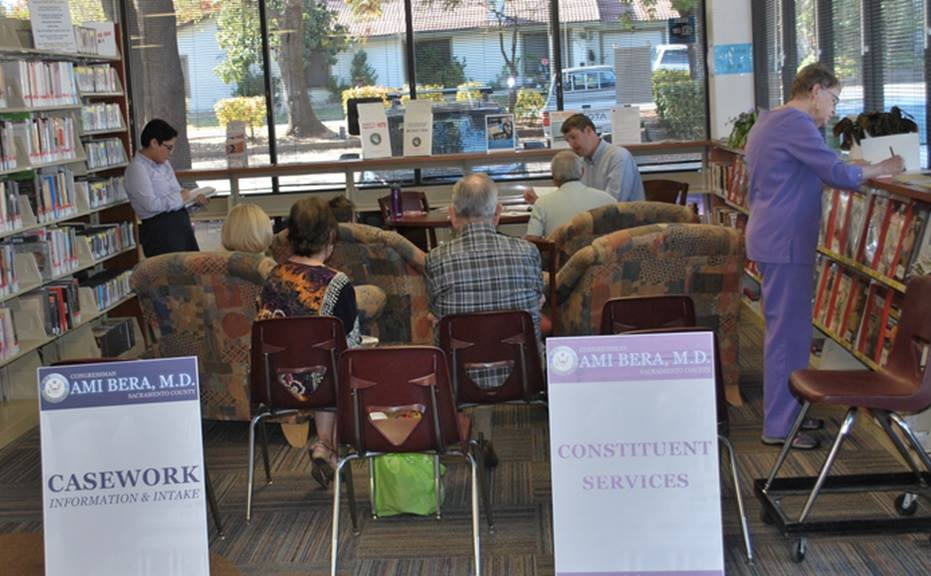 My staff assisted constituents at an earlier Library Office Hours in Citrus Heights.