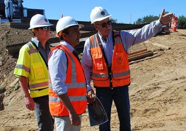I viewed major construction projects during an infrastructure tour of Sacramento County.