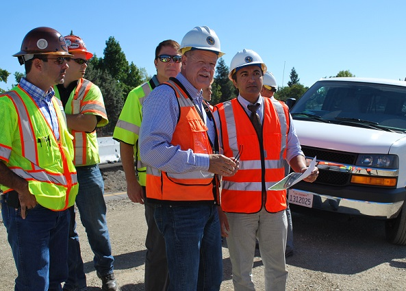 I toured local infrastructure projects in Sacramento County.